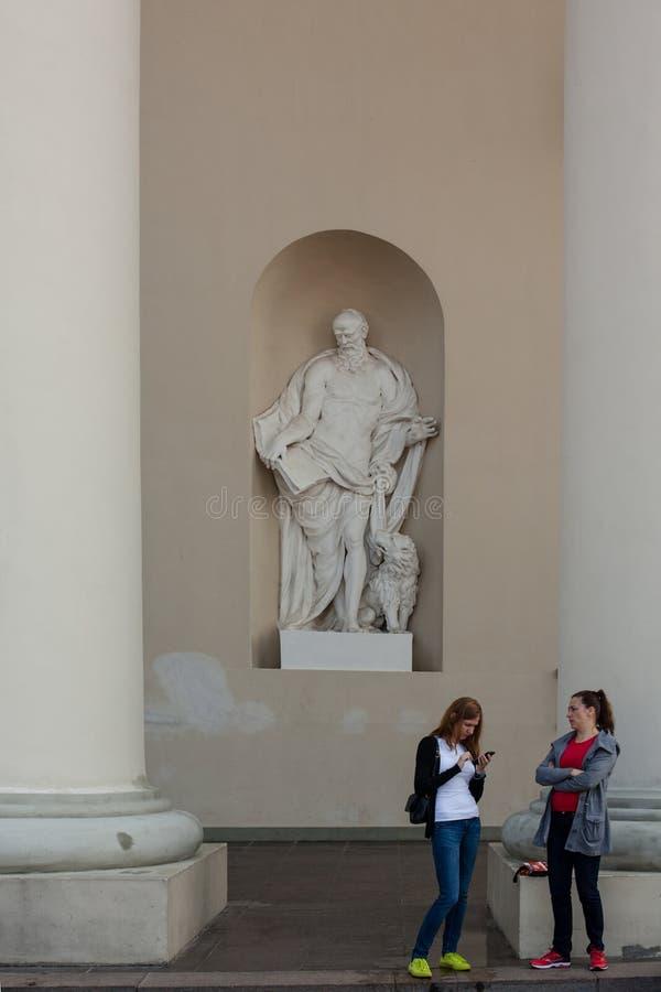 Άγαλμα του σημαδιού Αγίου ο Ευαγγελιστής στοκ εικόνες