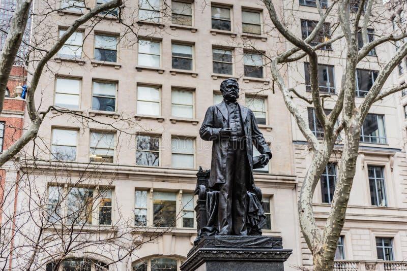 Άγαλμα του Τσέστερ Άρθουρ - πόλη της Νέας Υόρκης στοκ εικόνες