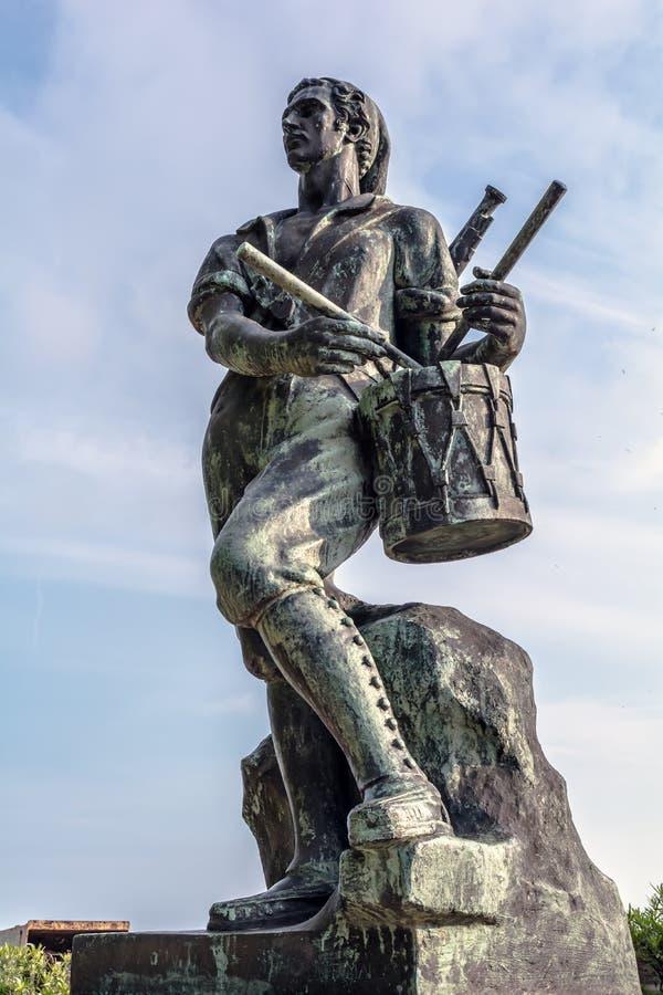 Άγαλμα του τυμπανιστή της EL Bruc από το γλύπτη Frederic Mares στοκ εικόνα με δικαίωμα ελεύθερης χρήσης