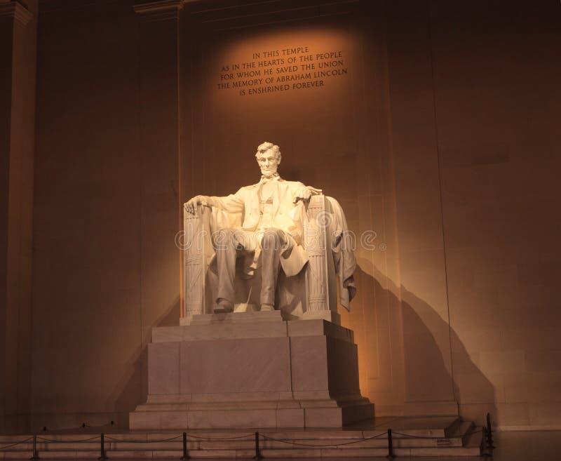 Άγαλμα του Abraham Lincoln Washington DC στοκ φωτογραφία με δικαίωμα ελεύθερης χρήσης