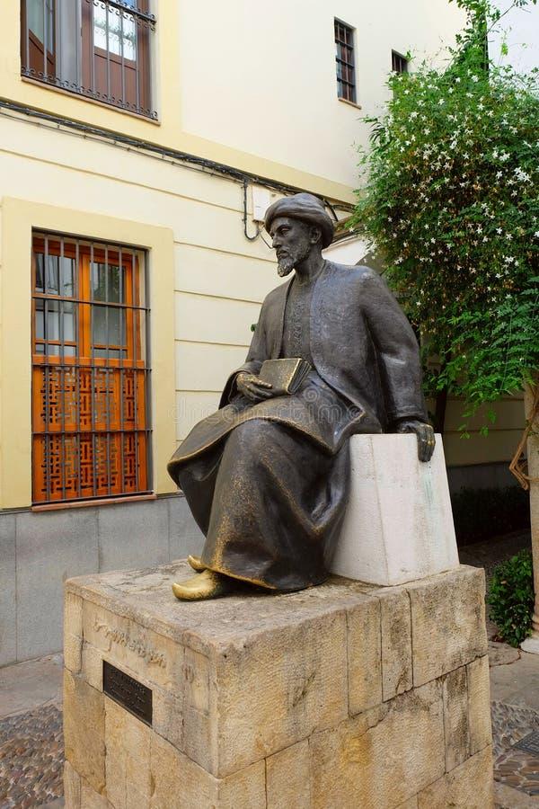 Άγαλμα του Ben Maimonides, Κόρδοβα στοκ φωτογραφίες με δικαίωμα ελεύθερης χρήσης
