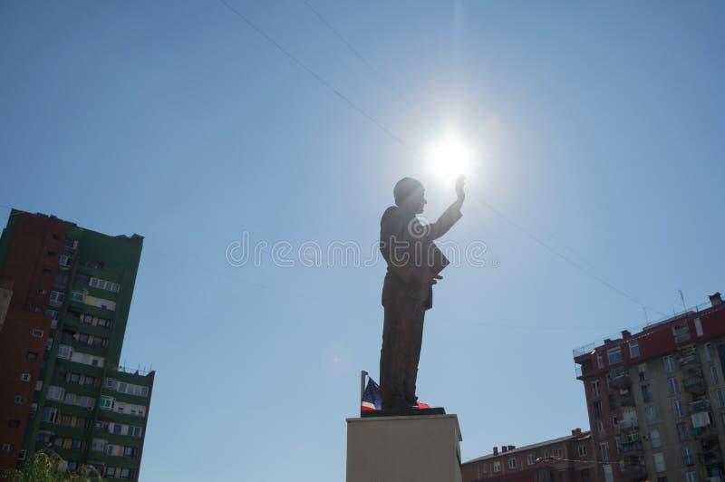 Άγαλμα του Bill Clinton Pristina, Κόσοβο στοκ φωτογραφίες
