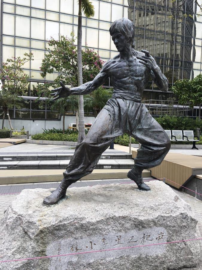 Άγαλμα του Bruce Lee, λεωφόρος Χονγκ Κονγκ των αστεριών στοκ εικόνα με δικαίωμα ελεύθερης χρήσης