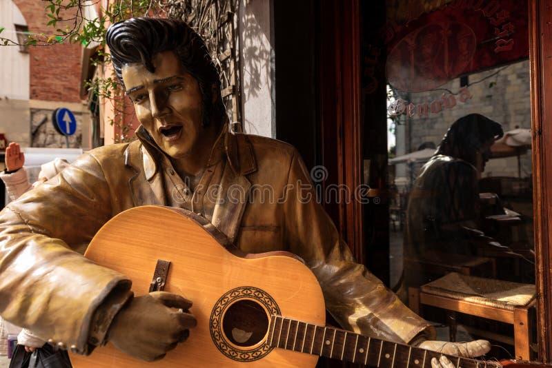 Άγαλμα του Elvis Presley που παίζει την κιθάρα στοκ φωτογραφίες με δικαίωμα ελεύθερης χρήσης
