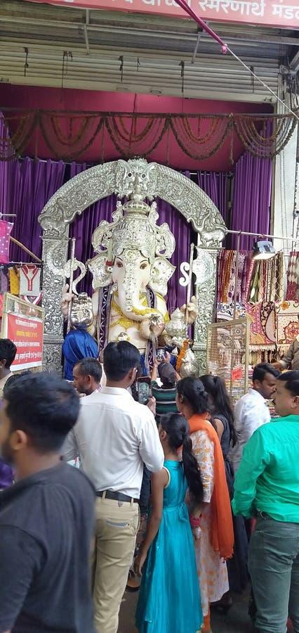 Άγαλμα του loard ganesh στην πόλη pune στοκ φωτογραφία με δικαίωμα ελεύθερης χρήσης