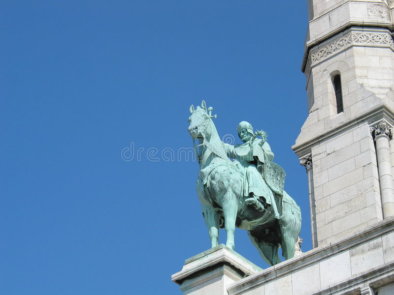 άγαλμα του Louis ST στοκ εικόνες