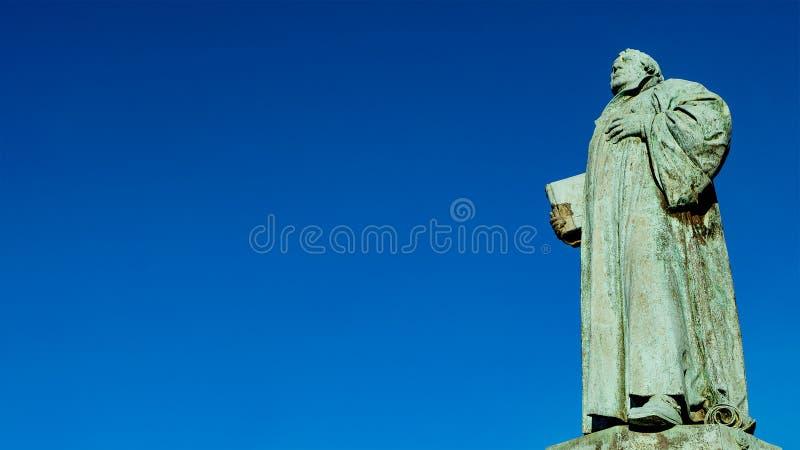 Άγαλμα του Martin Luther Magdeburg, Γερμανία στοκ εικόνα