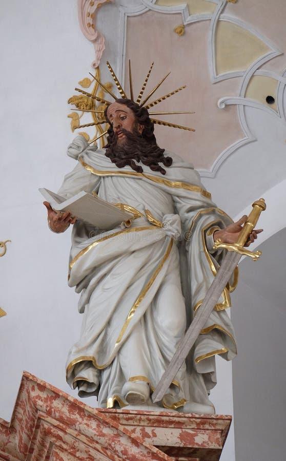 Άγαλμα του Saint-Paul στον κύριο βωμό στην εκκλησία Jesuit του ST Francis Xavier σε Λουκέρνη στοκ φωτογραφίες με δικαίωμα ελεύθερης χρήσης