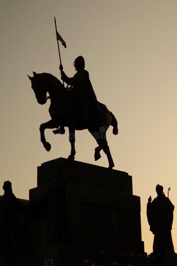 άγαλμα του ST vaclav στοκ φωτογραφία