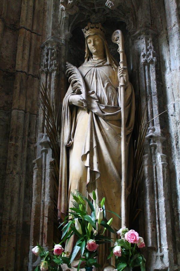 Άγαλμα του ST Winefride, Holywell, Ουαλία, UK στοκ φωτογραφία με δικαίωμα ελεύθερης χρήσης