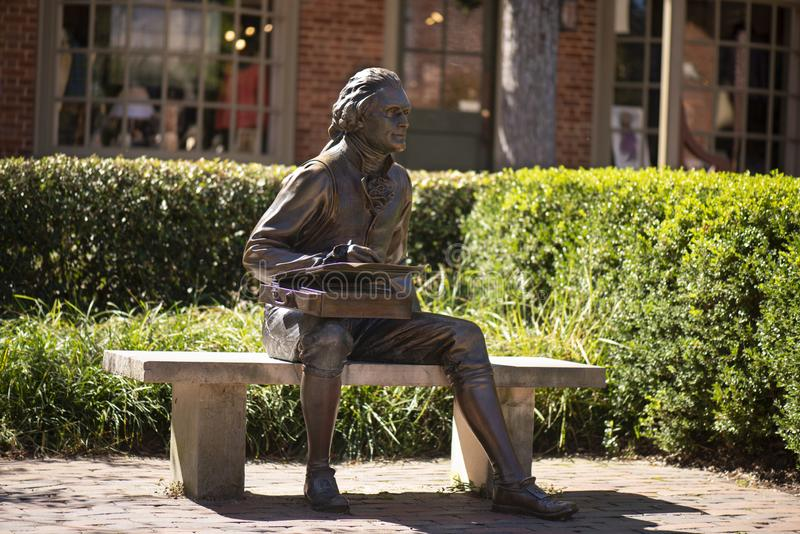 Άγαλμα του Thomas Jefferson σε Williamsburg Βιρτζίνια στοκ φωτογραφίες με δικαίωμα ελεύθερης χρήσης