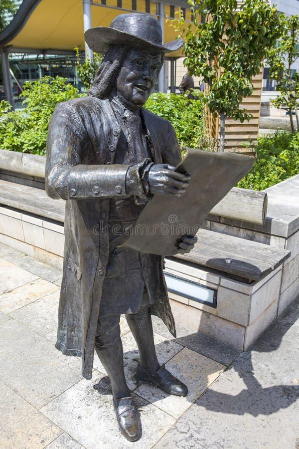 Άγαλμα του William Penn στο Μπρίστολ στοκ φωτογραφία με δικαίωμα ελεύθερης χρήσης