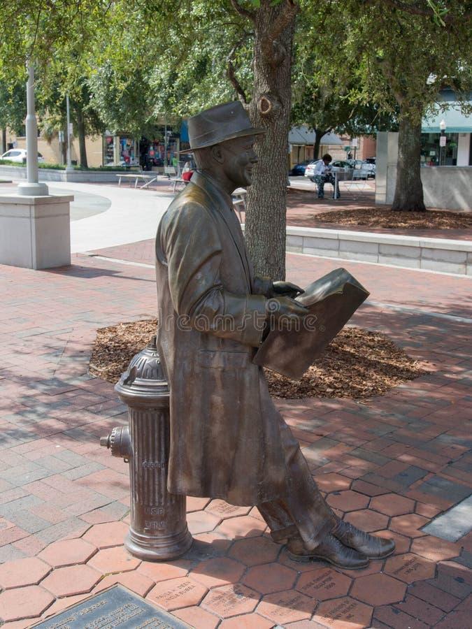 Άγαλμα υφασματεμπόρων του Johnny στην πλατεία του Ellis στοκ φωτογραφίες με δικαίωμα ελεύθερης χρήσης
