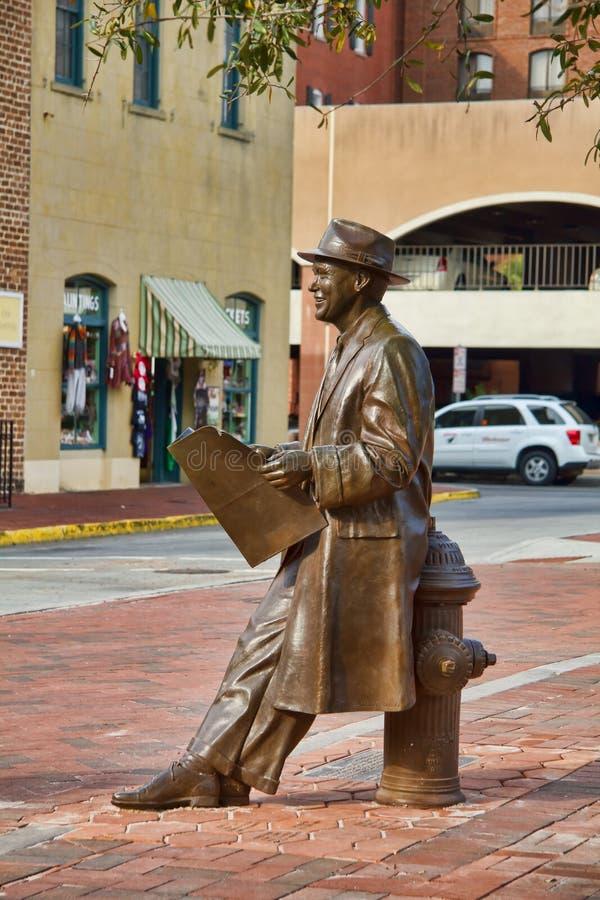 άγαλμα υφασματεμπόρων του Johnny στοκ φωτογραφία με δικαίωμα ελεύθερης χρήσης