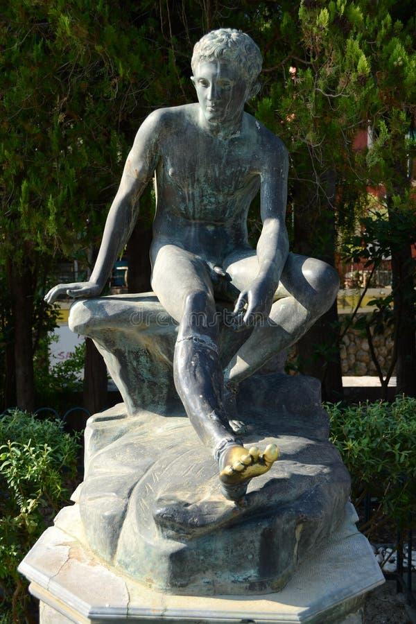 Άγαλμα χαλκού του υδραργύρου στοκ εικόνες με δικαίωμα ελεύθερης χρήσης