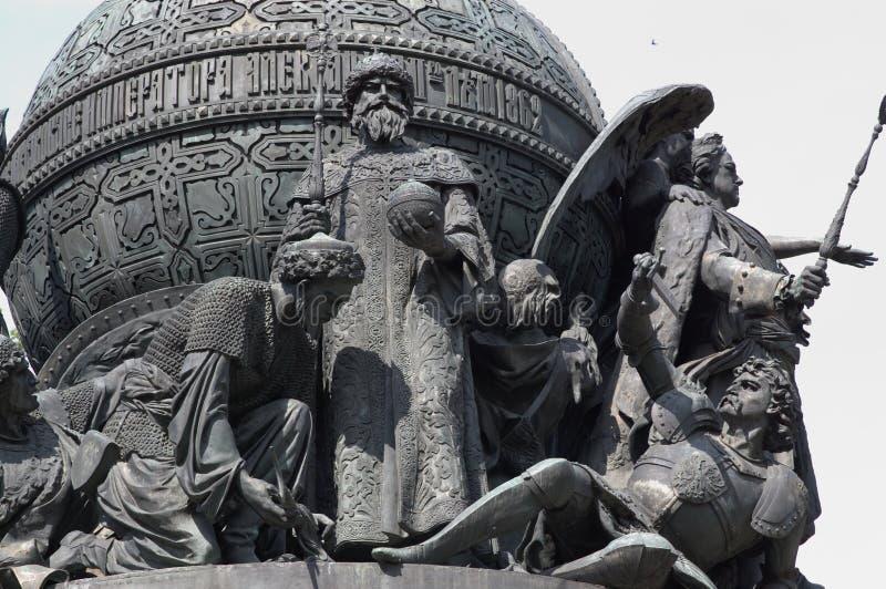 Άγαλμα χιλιετίας στη Ρωσία στοκ εικόνα με δικαίωμα ελεύθερης χρήσης