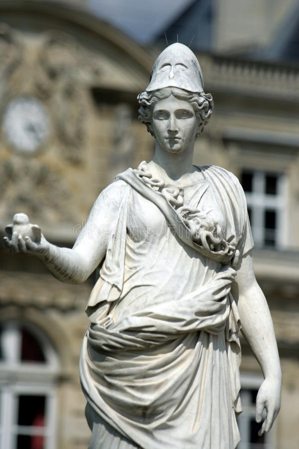 άγαλμα atena στοκ φωτογραφία με δικαίωμα ελεύθερης χρήσης