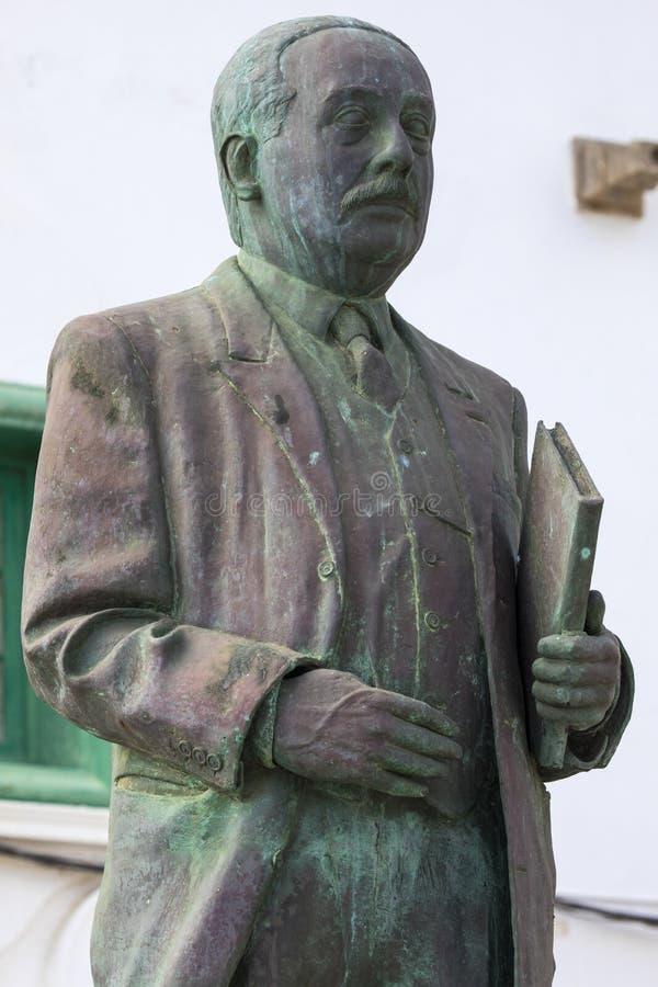 Άγαλμα Cabrera Υ Felipe Blas σε Lanzarote στοκ εικόνα