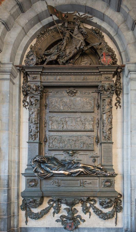 Άγαλμα Evrard Τ ` Serclaes από τη μεγάλη θέση των Βρυξελλών, Βέλγιο, στοκ φωτογραφία με δικαίωμα ελεύθερης χρήσης