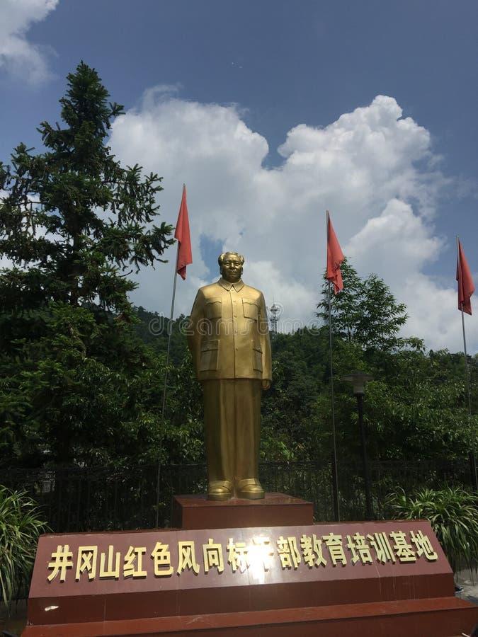 Άγαλμα Mao Zedong χαλκού στοκ εικόνα