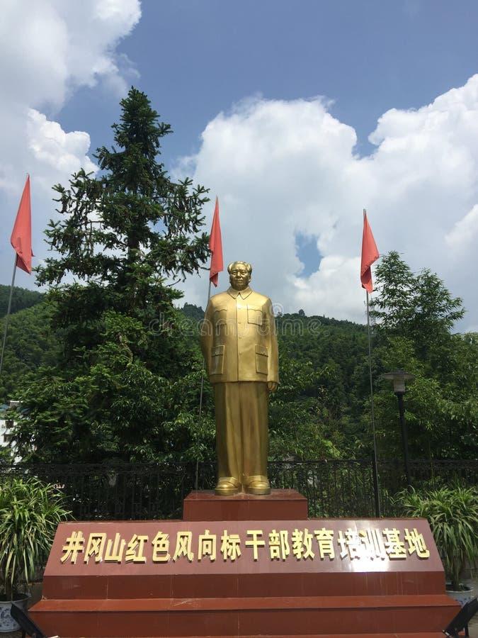 Άγαλμα Mao Zedong χαλκού στοκ εικόνες