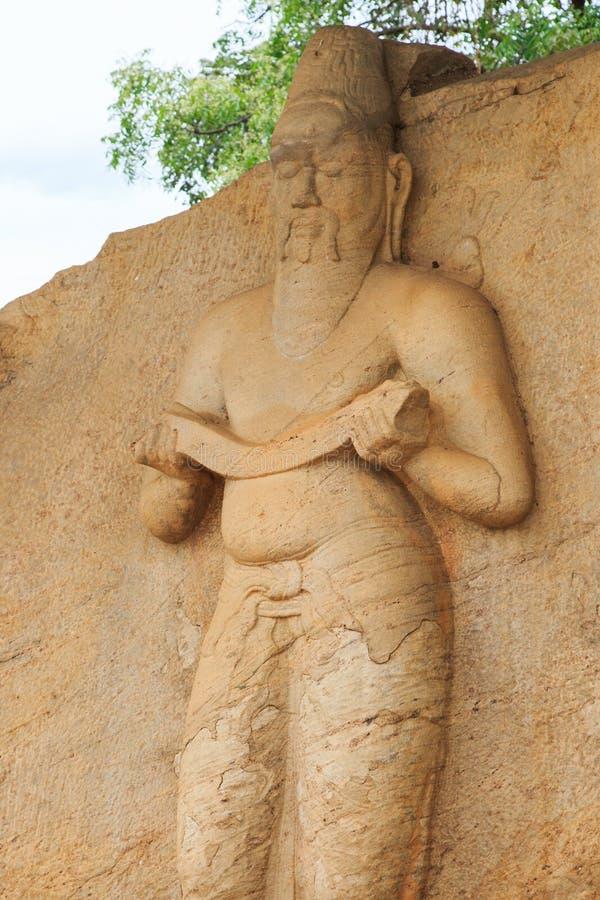 Άγαλμα Parakramabahu Ι μεγάλες - Polonnaruwa - η Σρι Λάνκα στοκ φωτογραφίες με δικαίωμα ελεύθερης χρήσης