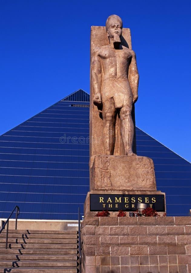 Άγαλμα Ramesses, Μέμφιδα, ΗΠΑ. στοκ εικόνα με δικαίωμα ελεύθερης χρήσης