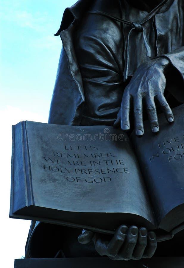 άγαλμα scripture στοκ εικόνα