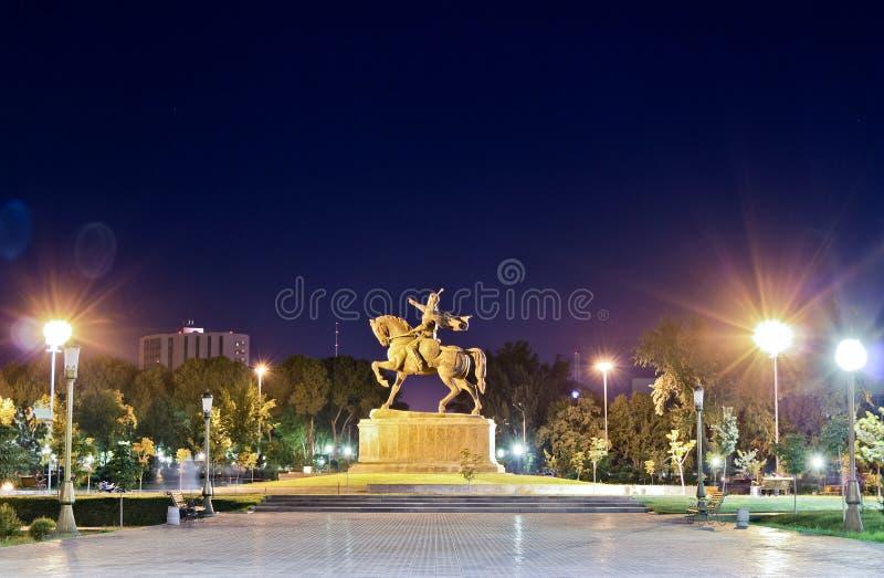 άγαλμα tamerlane στοκ εικόνα με δικαίωμα ελεύθερης χρήσης