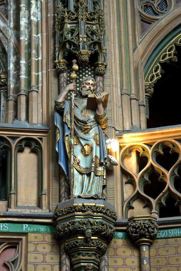 Άγαλμα Άγιος James στην εκκλησία του James, Λιέγη, Βέλγιο στοκ φωτογραφία με δικαίωμα ελεύθερης χρήσης