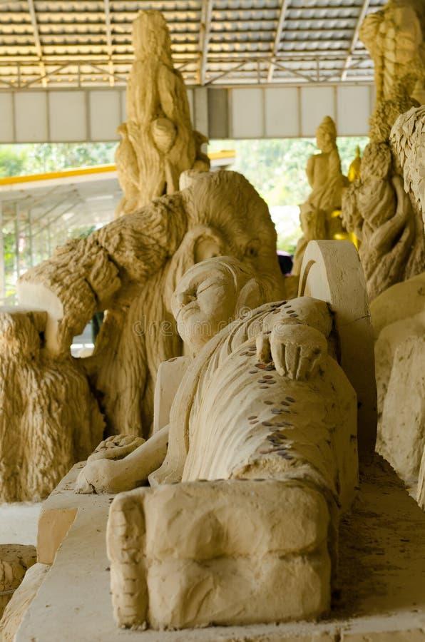 Άγαλμα άμμου του ξαπλώνοντας Βούδα στοκ εικόνες με δικαίωμα ελεύθερης χρήσης