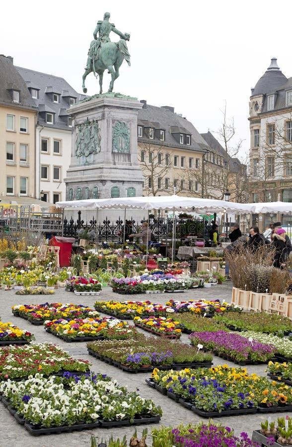 Άγαλμα Γκιγιώμ ΙΙ στο Λουξεμβούργο στοκ φωτογραφία με δικαίωμα ελεύθερης χρήσης