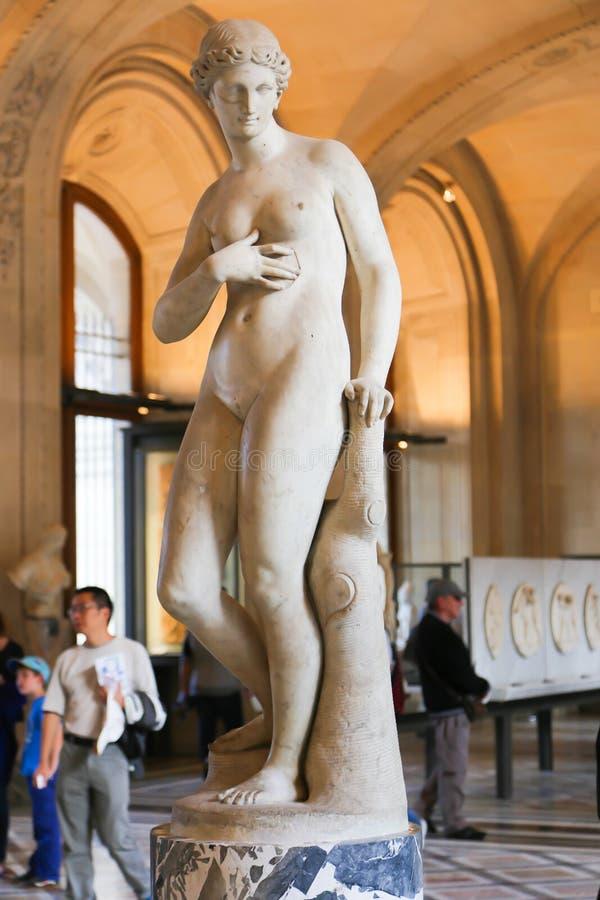 Άγαλμα γυναικών - μουσείο του Λούβρου - Παρίσι στοκ φωτογραφία