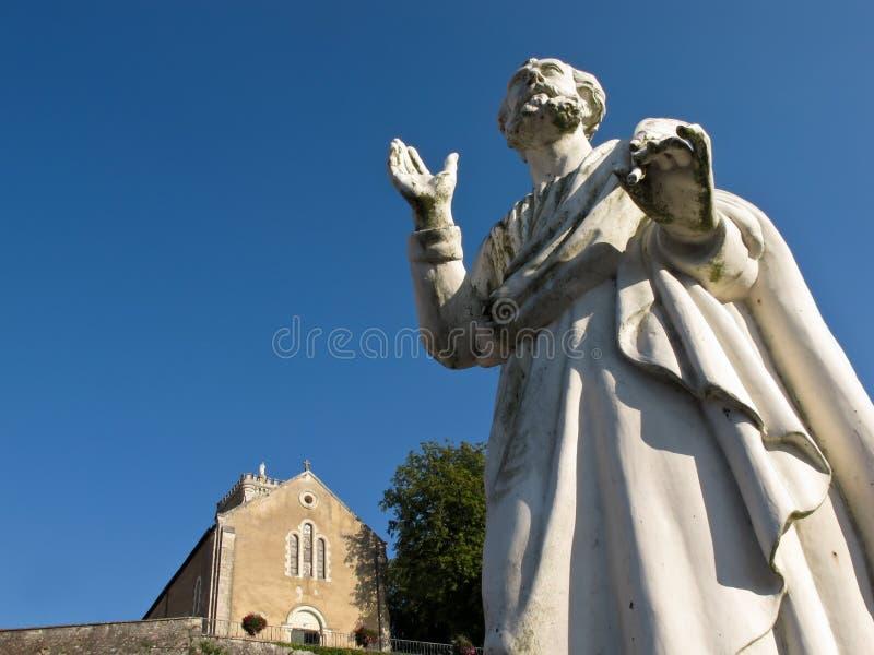 Άγαλμα ενός καθολικού Αγίου στοκ φωτογραφίες
