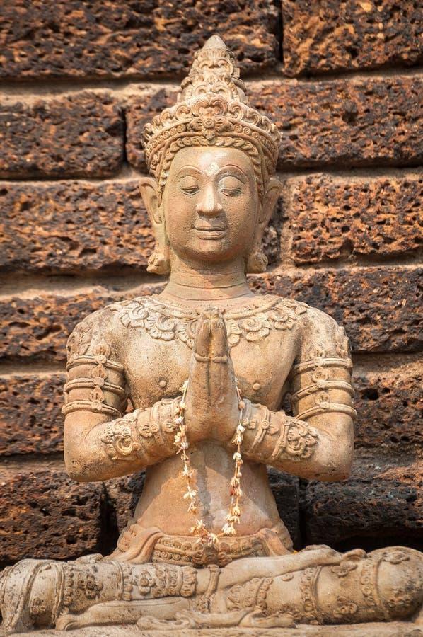 Άγαλμα επίκλησης Βούδας σε Wat αεριωθούμενο Yod, Chiang Mai, Ταϊλάνδη στοκ εικόνα