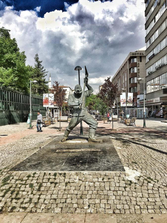 Άγαλμα εργαζομένων στοκ φωτογραφία με δικαίωμα ελεύθερης χρήσης