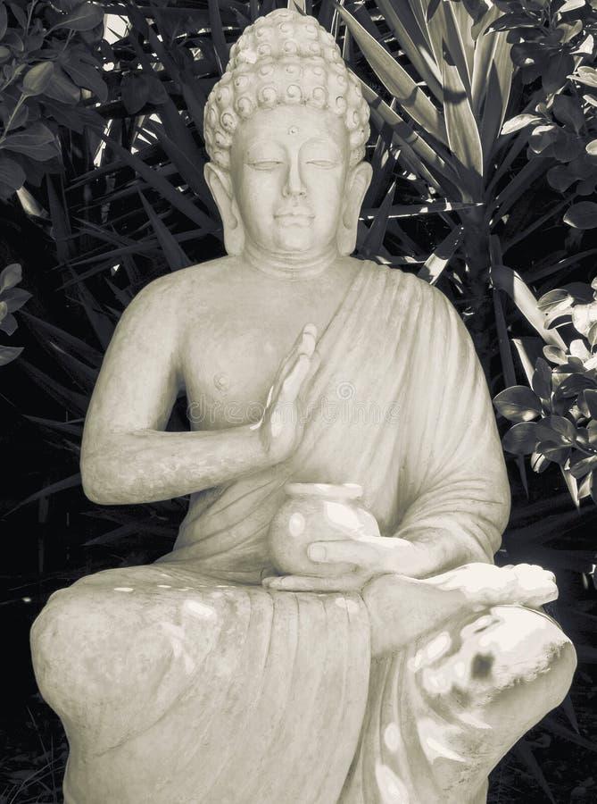 Άγαλμα κήπων του Βούδα στοκ φωτογραφία με δικαίωμα ελεύθερης χρήσης