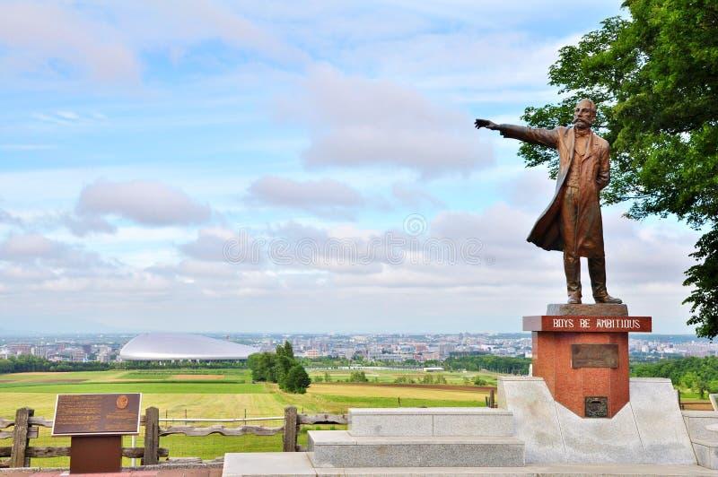 Άγαλμα καθηγητή William Smith Clark σε Sapporo, Hokkaido - Ιαπωνία στοκ εικόνα