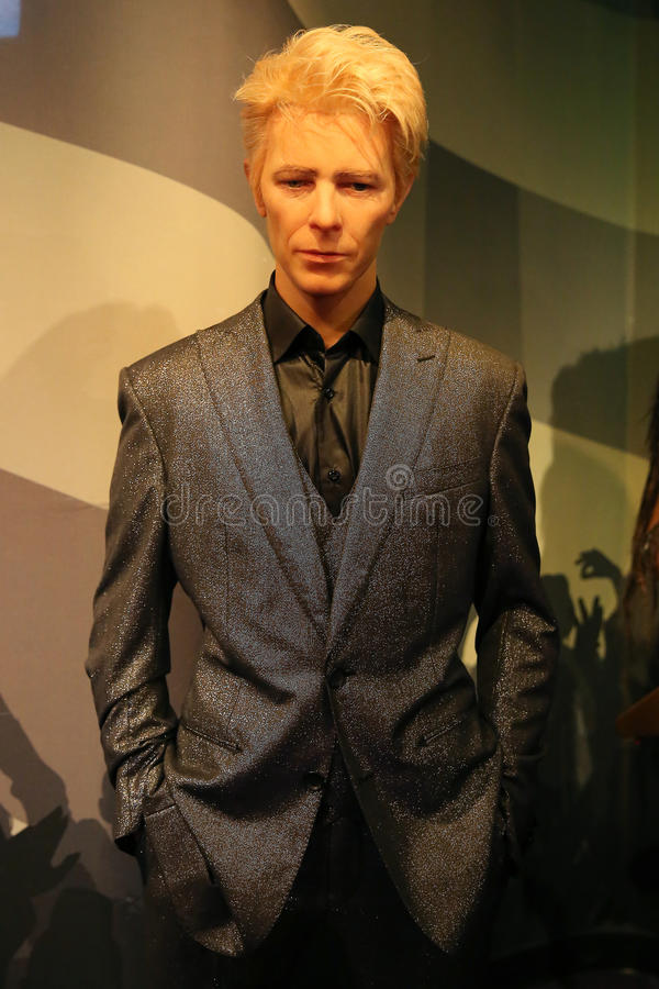 Άγαλμα κεριών του David Bowie στοκ εικόνα