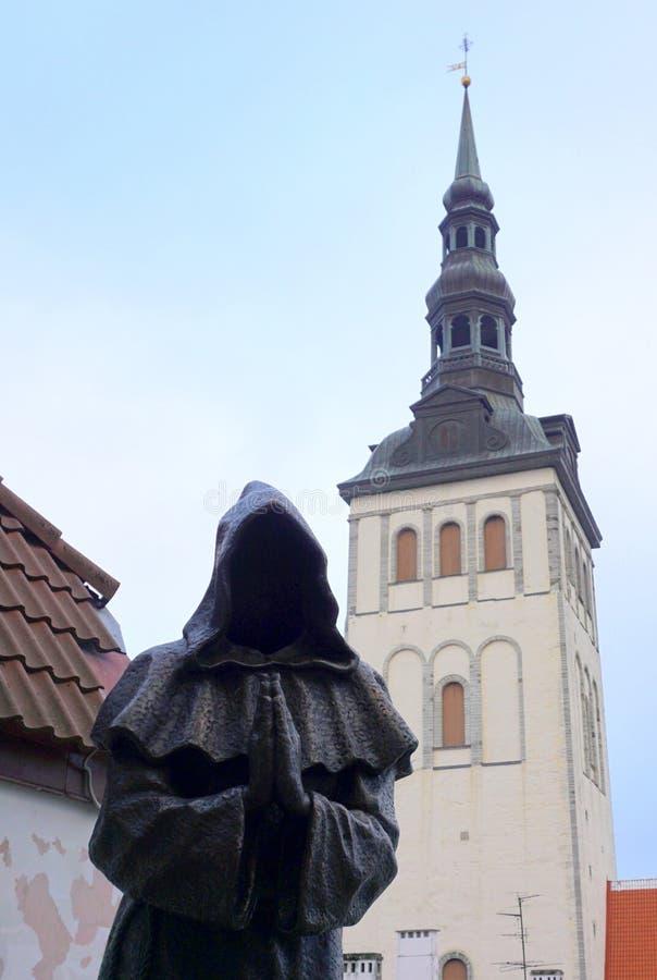 Άγαλμα μοναχών στοκ φωτογραφία με δικαίωμα ελεύθερης χρήσης
