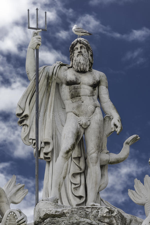 Άγαλμα Ποσειδώνα στην πηγή, Ρώμη, Ιταλία στοκ φωτογραφίες