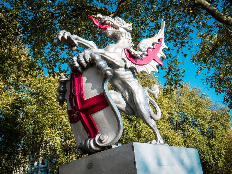 Άγαλμα, πόλη του Λονδίνου στοκ εικόνες με δικαίωμα ελεύθερης χρήσης