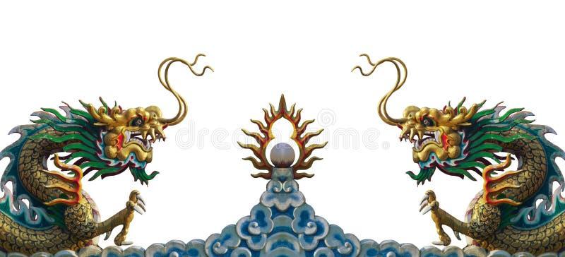 Άγαλμα δράκων της Κίνας διανυσματική απεικόνιση