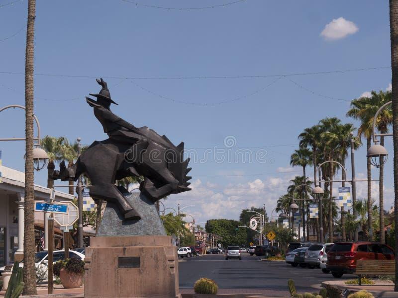 Άγαλμα σε Scottsdale στην Αριζόνα στα περίχωρα του Phoenix στοκ φωτογραφίες με δικαίωμα ελεύθερης χρήσης