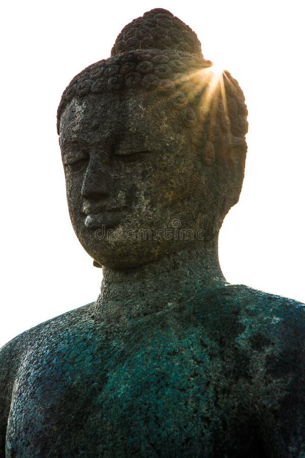 Άγαλμα στο βουδιστικό ναό Borobudur, νησί της Ιάβας, Ινδονησία στοκ φωτογραφία με δικαίωμα ελεύθερης χρήσης