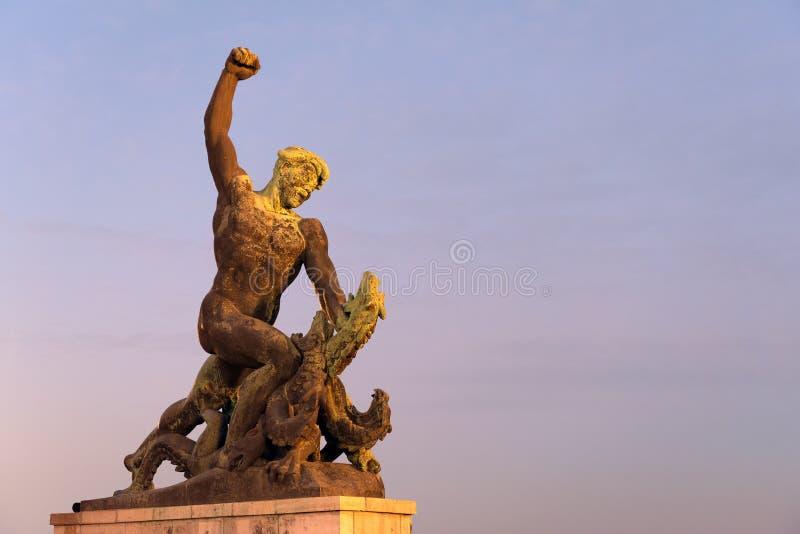 Άγαλμα στο Hill Gellert στοκ φωτογραφία με δικαίωμα ελεύθερης χρήσης