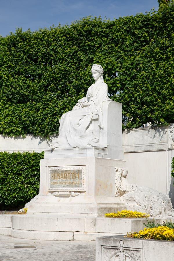 Άγαλμα της αυτοκράτειρας Elizabeth στο circa Volksgarten Βιέννη στοκ φωτογραφία με δικαίωμα ελεύθερης χρήσης