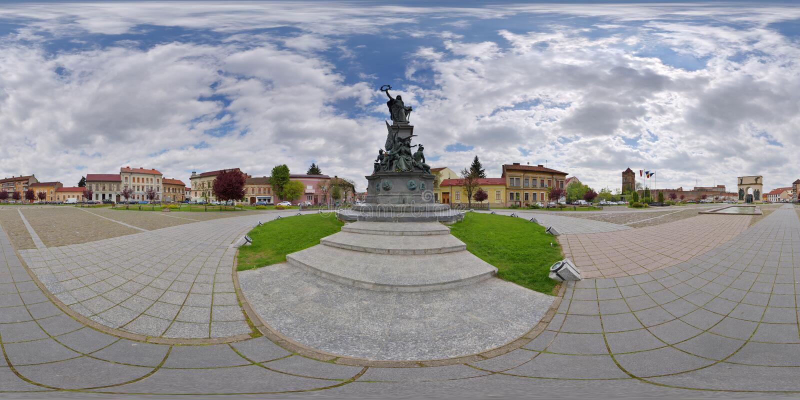Άγαλμα της ελευθερίας, πάρκο συμφιλίωσης, Arad, Ρουμανία στοκ φωτογραφία με δικαίωμα ελεύθερης χρήσης