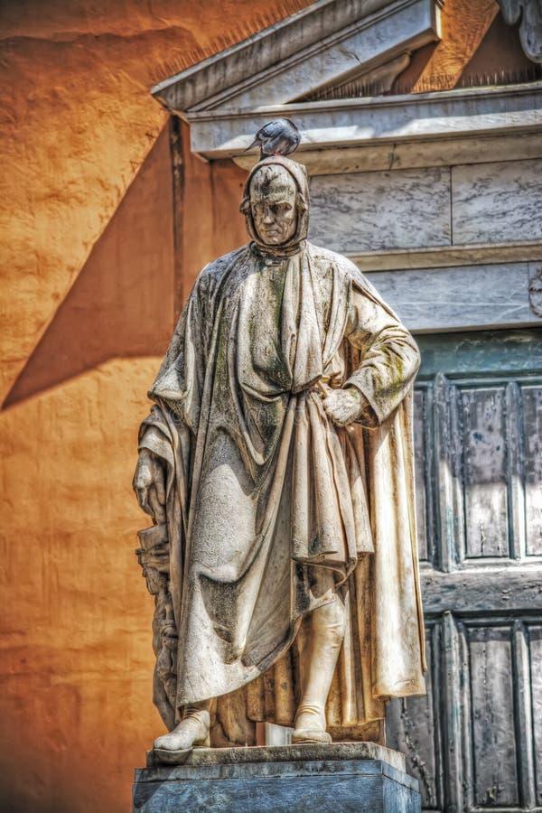 Άγαλμα της Nicola Pisano στην Πίζα στοκ φωτογραφία με δικαίωμα ελεύθερης χρήσης