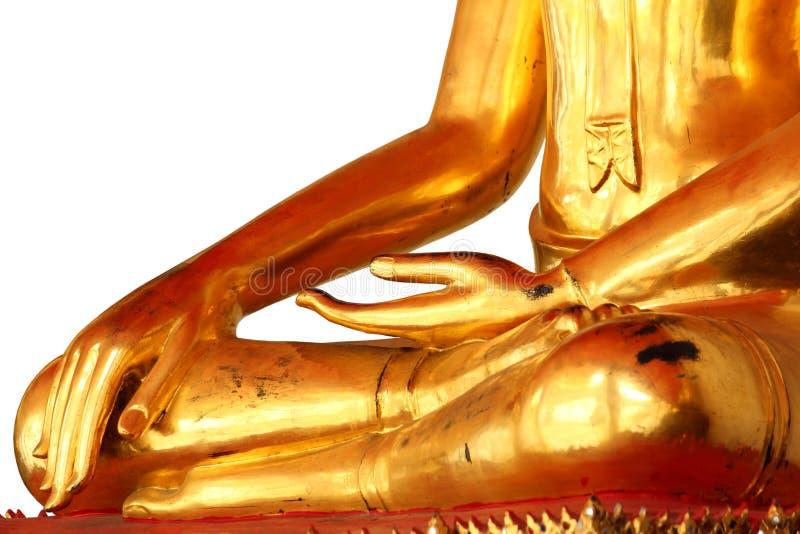 Άγαλμα του Βούδα περισυλλογής που απομονώνεται στο άσπρο υπόβαθρο στοκ φωτογραφία